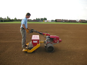 Self propelled precision seeder for over-seeding & re-seeding, will cover up to 1 acre in an hour depending on conditions.