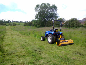 Tractor & Flail Mower.