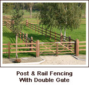 Click to view. Post & Rail Fencing With Double Gate