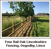 Click to view. Lincolnshire Fencing Around a Newly Seeded Garden Area